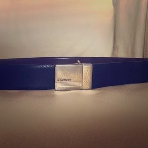 Yves Saint Laurent leather reversible belt